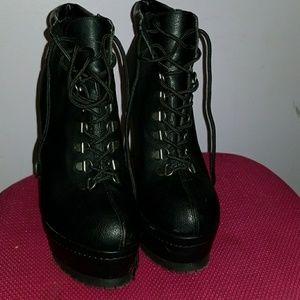 Gothic Heel Booties